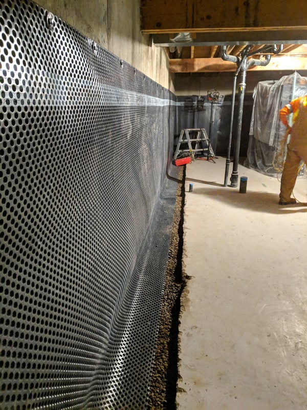 basement and foundation walls waterproofing